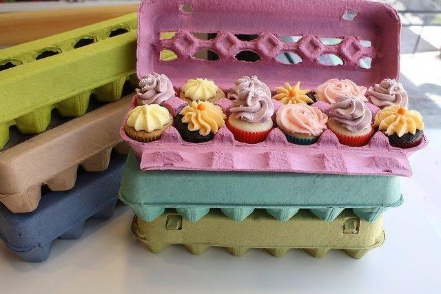 Cupcakes em Caixas de Ovos