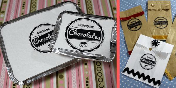 Embalagens do Curso de Chocolate